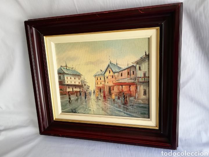 Arte: Bonito Cuadro pintura a mano sobre tabla firmada.. Francia - Foto 2 - 161668580