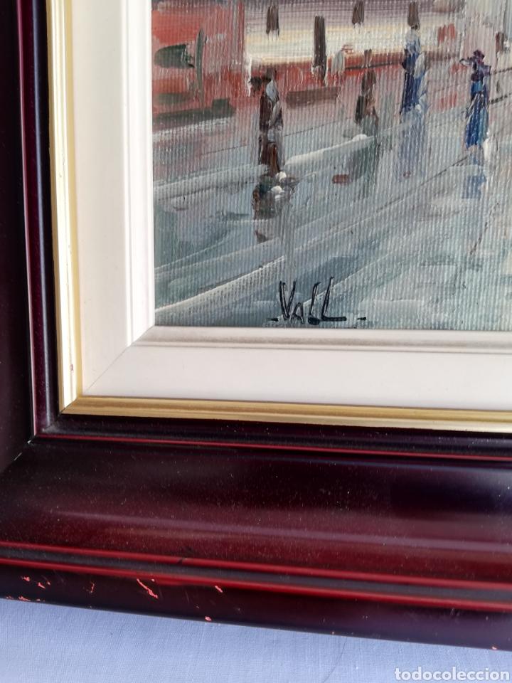 Arte: Bonito Cuadro pintura a mano sobre tabla firmada.. Francia - Foto 3 - 161668580