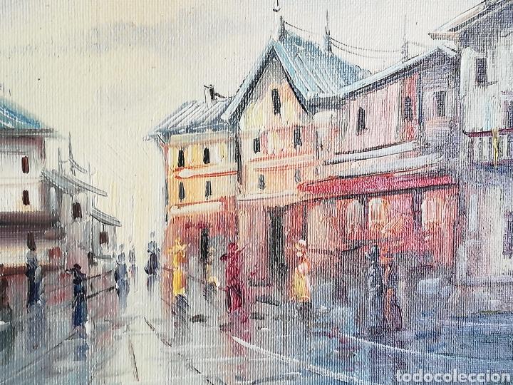 Arte: Bonito Cuadro pintura a mano sobre tabla firmada.. Francia - Foto 4 - 161668580