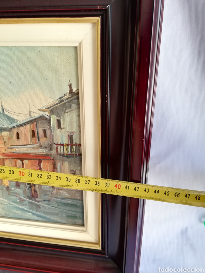 Arte: Bonito Cuadro pintura a mano sobre tabla firmada.. Francia - Foto 5 - 161668580