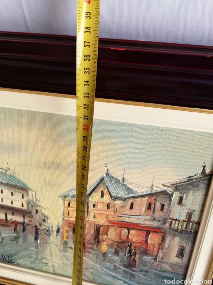 Arte: Bonito Cuadro pintura a mano sobre tabla firmada.. Francia - Foto 6 - 161668580