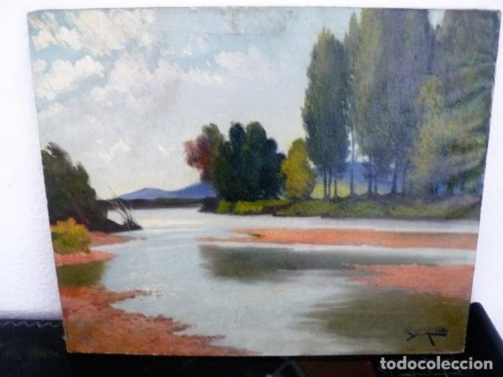 ANTONI ROS Y GÜELL (1873-1954) ÓLEO SOBRE LIENZO PAISAJE- FIRMADO (Arte - Pintura - Pintura al Óleo Contemporánea )