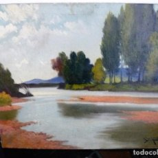 Arte: ANTONI ROS Y GÜELL (1873-1954) ÓLEO SOBRE LIENZO PAISAJE- FIRMADO. Lote 161678426