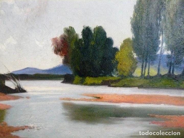 Arte: Antoni Ros y Güell (1873-1954) óleo sobre lienzo Paisaje- firmado - Foto 2 - 161678426
