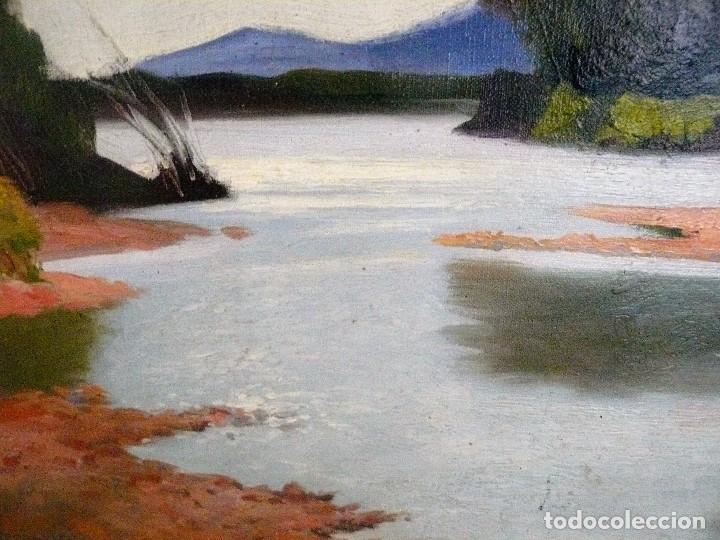 Arte: Antoni Ros y Güell (1873-1954) óleo sobre lienzo Paisaje- firmado - Foto 3 - 161678426