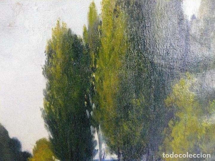 Arte: Antoni Ros y Güell (1873-1954) óleo sobre lienzo Paisaje- firmado - Foto 5 - 161678426