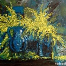 Arte: BODEGON DE FLORES AZUL. Lote 161686406