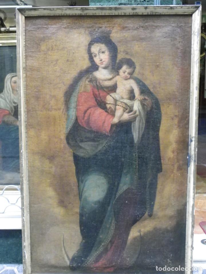 Arte: Virgen del Rosario sevillana siglo XVII - Foto 2 - 161811110