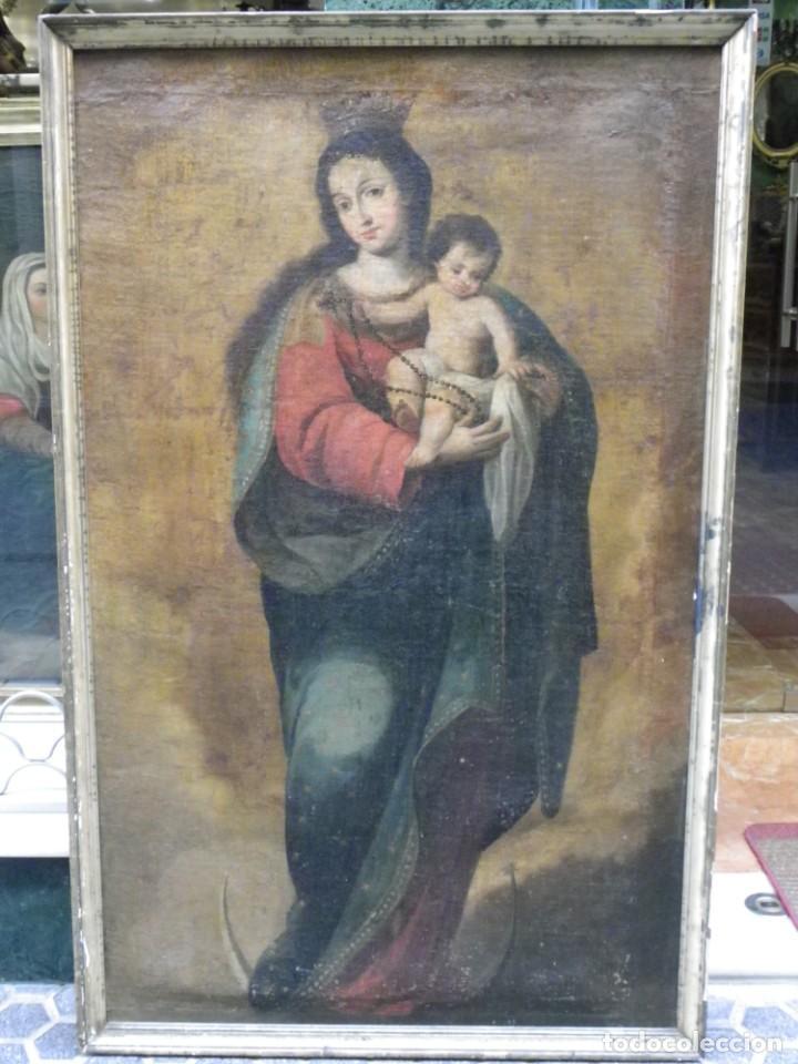 Arte: Virgen del Rosario sevillana siglo XVII - Foto 3 - 161811110