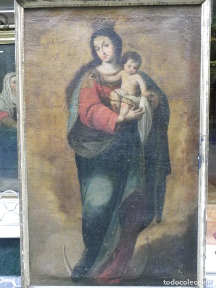 Arte: Virgen del Rosario sevillana siglo XVII - Foto 5 - 161811110