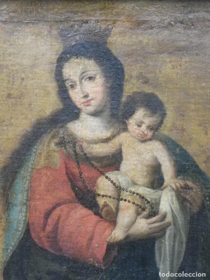 Arte: Virgen del Rosario sevillana siglo XVII - Foto 6 - 161811110