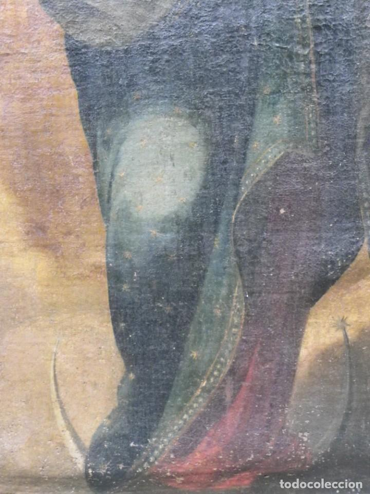 Arte: Virgen del Rosario sevillana siglo XVII - Foto 8 - 161811110