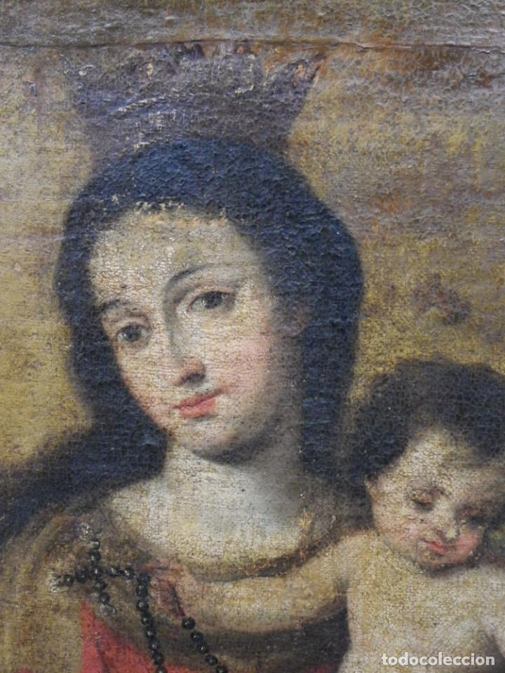 Arte: Virgen del Rosario sevillana siglo XVII - Foto 14 - 161811110