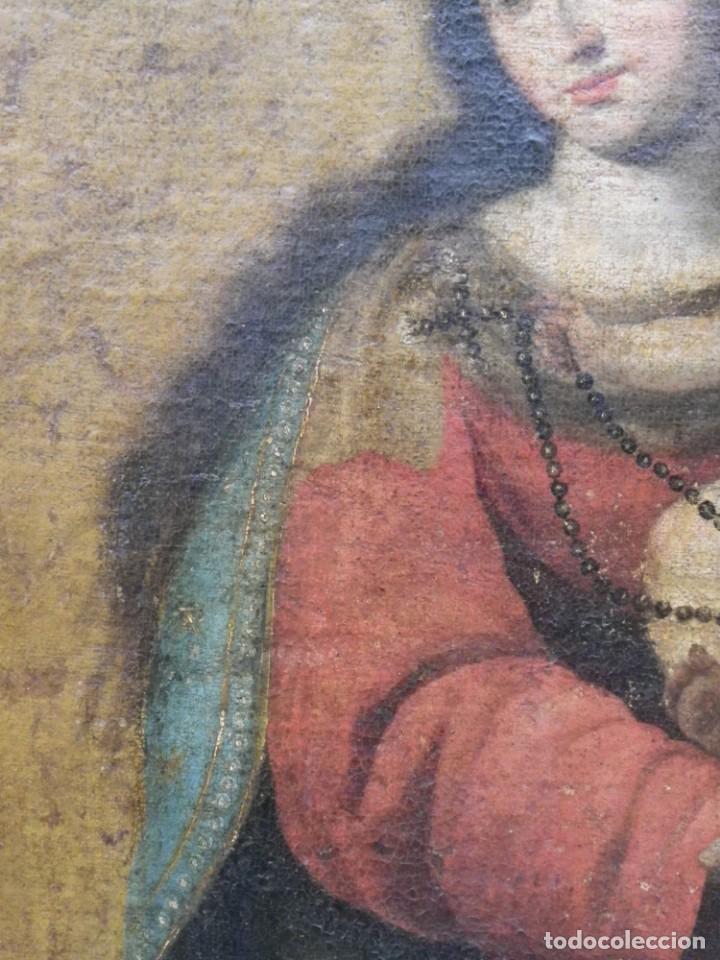 Arte: Virgen del Rosario sevillana siglo XVII - Foto 16 - 161811110