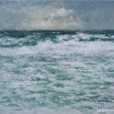 Arte: MARINA DE UN TEMPORAL. Lote 161868938