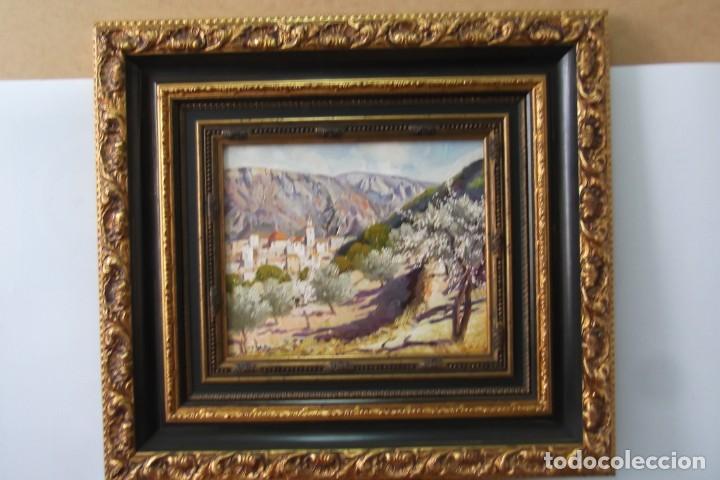 - PUEBLO ALICANTINO # RAFAEL FUSTER #.OLEO SOBRE LIENZO# CUADRO DE GALERIA ARTE # (Arte - Pintura - Pintura al Óleo Contemporánea )