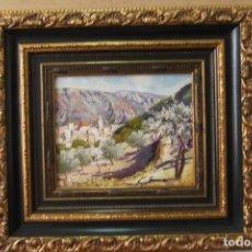 Arte: - PUEBLO ALICANTINO # RAFAEL FUSTER #.OLEO SOBRE LIENZO# CUADRO DE GALERIA ARTE #. Lote 161871598