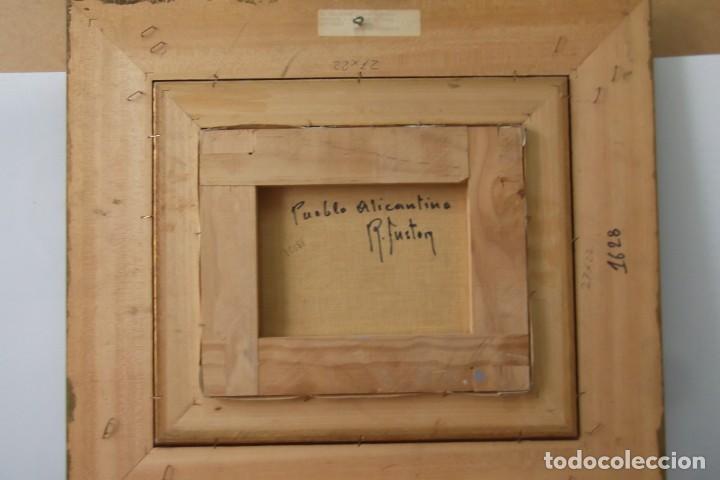 Arte: - PUEBLO ALICANTINO # RAFAEL FUSTER #.OLEO SOBRE LIENZO# CUADRO DE GALERIA ARTE # - Foto 2 - 161871598