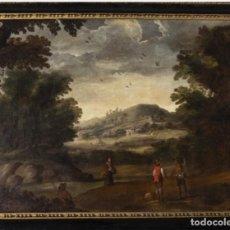 Arte: OLEO SOBRE LIENZO ESCUELA PROBABLEMENTE FLAMENCA SIGLO XVII-XVIII. Lote 161876914