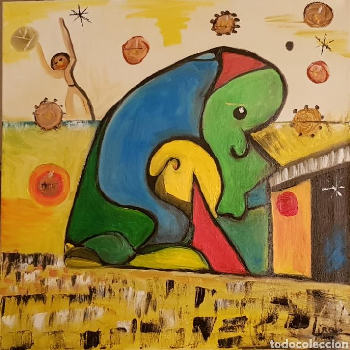 ABSTRACTO.OLEO SOBRE LIENZO 50X50 DE CATALINA FRANCO (Arte - Pintura Directa del Autor)