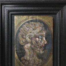 Arte: ESPECTACULAR ÓLEO SOBRE TABLA, ESCUELA ITALIANA XVIII-XIX, PERFIL MASCULINO. Lote 144001918
