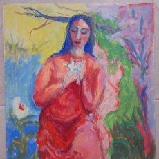 Arte: MUJER: DIOSA O VIRGEN - ESCUELA EUROPEA 1950'S ( CUBISMO, EXPRESIONISMO, FAUVISMO ). Lote 161992374