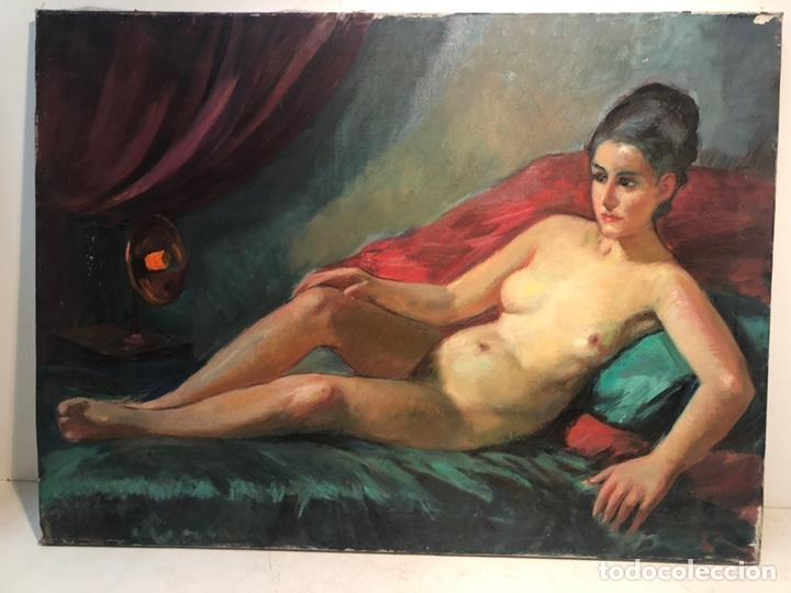 OLEO SOBRE TELA ATRIBUIBLE LLOBET Y RIBAS, 73X54. (Arte - Pintura - Pintura al Óleo Contemporánea )