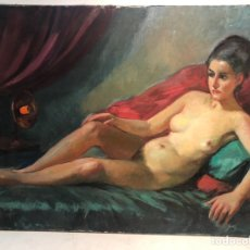 Arte: OLEO SOBRE TELA ATRIBUIBLE LLOBET Y RIBAS, 73X54.. Lote 162035564