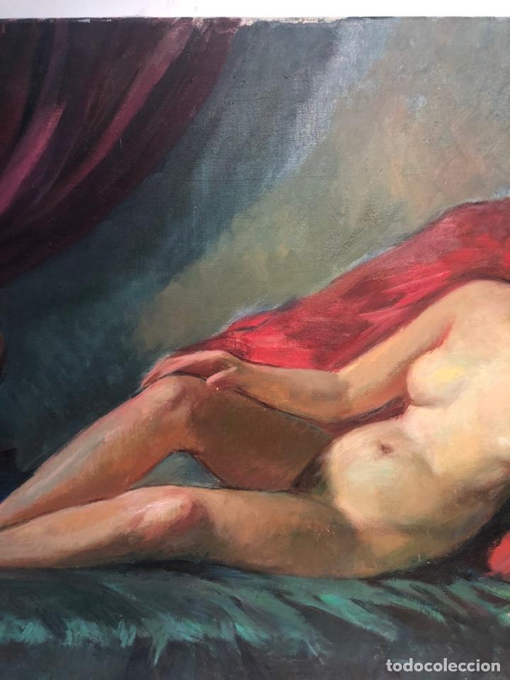 Arte: OLEO SOBRE TELA ATRIBUIBLE LLOBET Y RIBAS, 73X54. - Foto 3 - 162035564