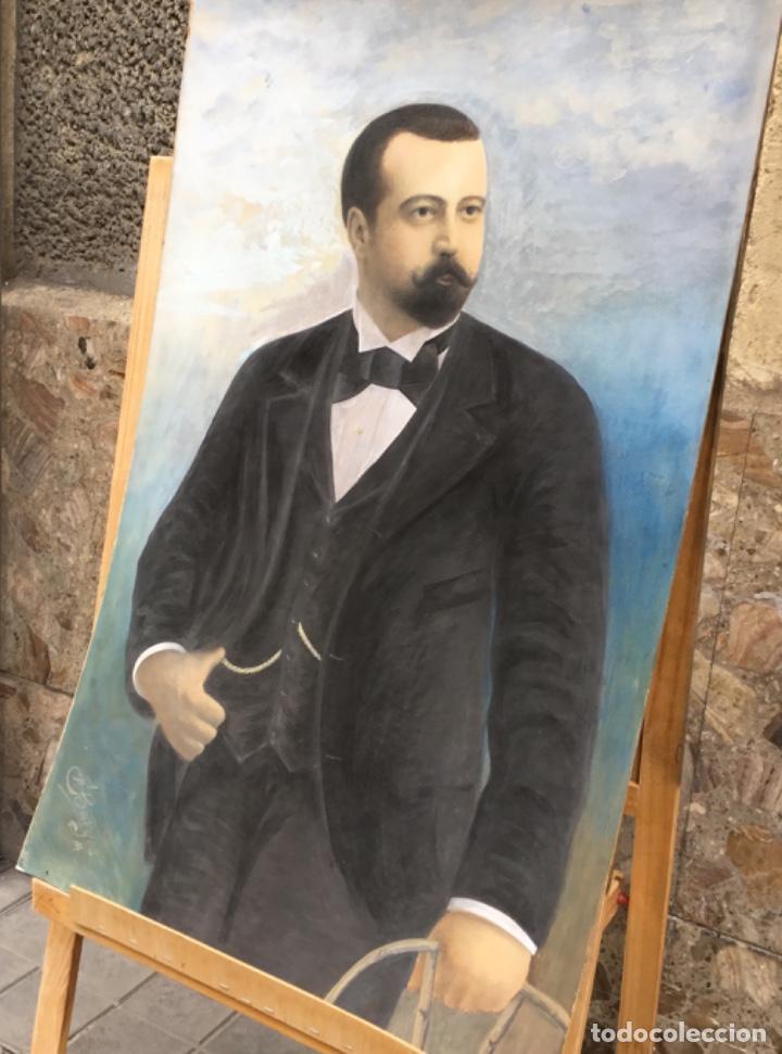 ANTIGUO RETRATO AL OLEO SOBRE TABLA (Arte - Pintura - Pintura al Óleo Antigua sin fecha definida)