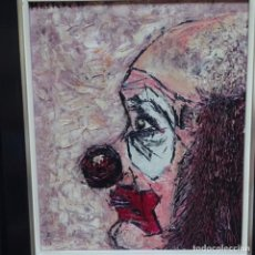 Arte: OLEO SOBRE TELA FIRMA ILEGIBLE.1975.PAYASO.. Lote 162324178