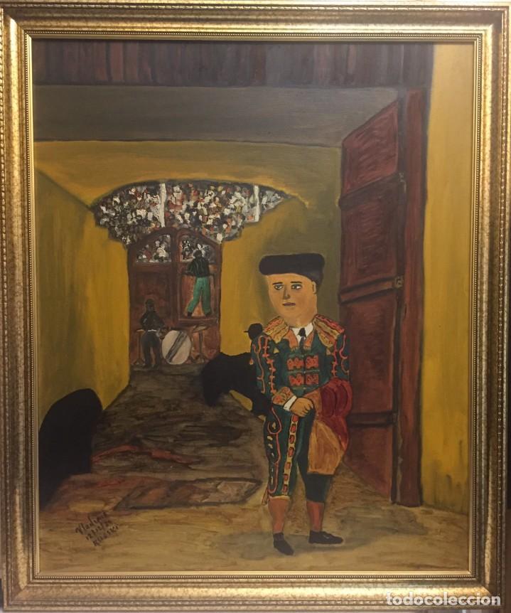 EL NANO TORERO (Arte - Pintura Directa del Autor)