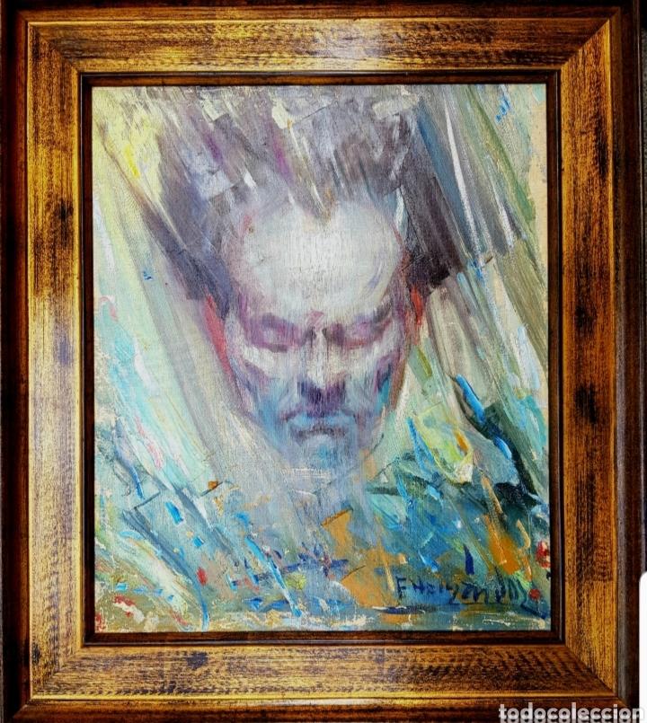 Arte: Francisco Hernández (Melilla 1932-Vélez Málaga, interesante pintura original primera época, firmado. - Foto 2 - 162408274