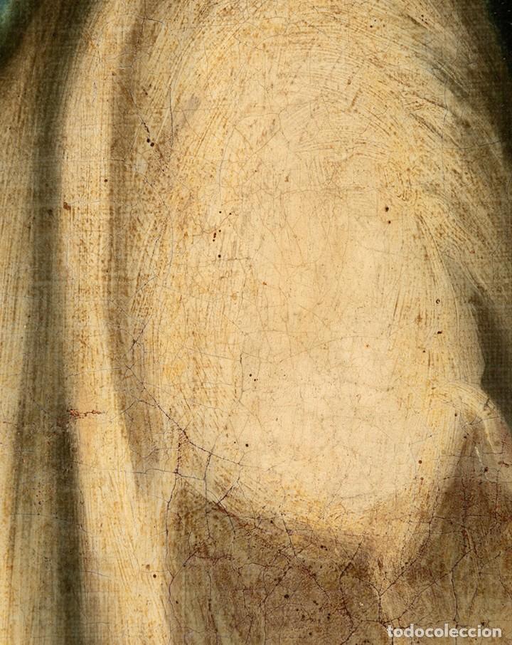 Arte: ÓLEO S/LIENZO -INMACULADA-, MUY BIEN ENMARCADO. ESC BARROCA SEVILLANA S. XVIII. DIM.- 105X81.5 CMS. - Foto 6 - 162475362