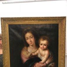 Arte: EXCEPCIONAL VIRGEN CON EL NIÑO DE MURILLO. Lote 162409050