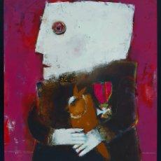 Arte: DIAZDEL (MÁLAGA 1954), MAGNIFICA PINTURA ORIGINAL, EL HEROE, FIRMADA.. Lote 162501261