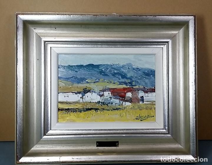 JOSE COZAR VIEDMA BAEZA JAEN 1944 PAISAJE TITULADO CASAS DE GENAVE (Arte - Pintura - Pintura al Óleo Contemporánea )