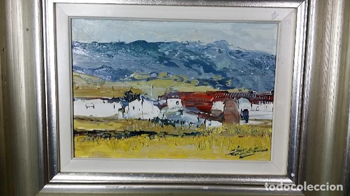 Arte: JOSE COZAR VIEDMA BAEZA JAEN 1944 PAISAJE TITULADO CASAS DE GENAVE - Foto 2 - 195390751