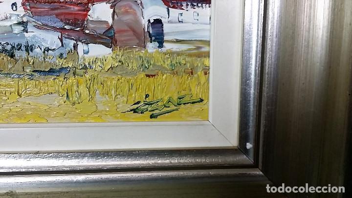 Arte: JOSE COZAR VIEDMA BAEZA JAEN 1944 PAISAJE TITULADO CASAS DE GENAVE - Foto 3 - 195390751