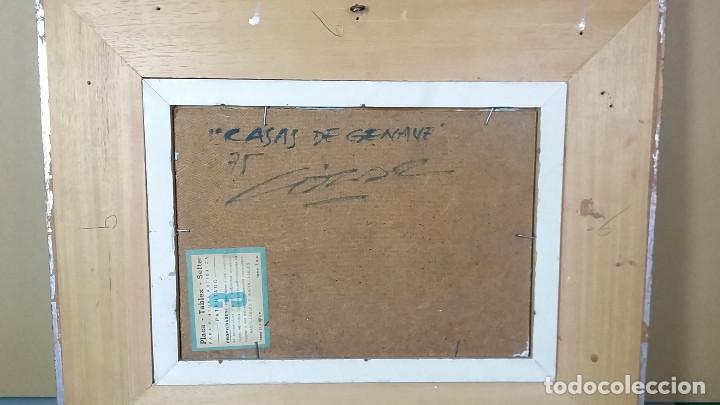 Arte: JOSE COZAR VIEDMA BAEZA JAEN 1944 PAISAJE TITULADO CASAS DE GENAVE - Foto 5 - 195390751