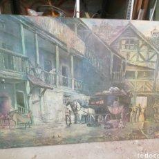 Arte: PINTURA ÓLEO ANTIGUA 1907. MEDIAS AMPLIAS 1,40 X1 METRO. SOPORTE 3CMS Y MADERA... Lote 162584242