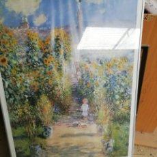 Arte: CLAUDE MONET. 1880. CUADRO ENMARCADO. NIÑA JUGANDO.. Lote 162587320