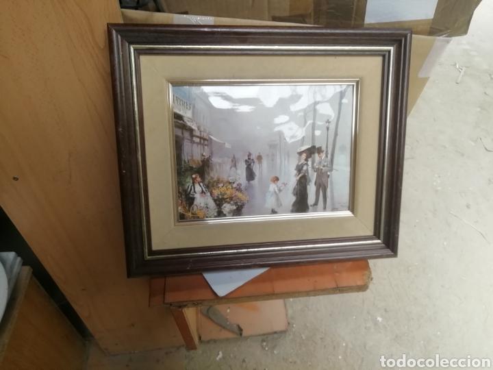Arte: Pintura modernista y descriptiva. Escena cotidiana. Enmarcada. - Foto 2 - 162654508