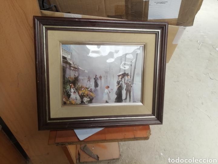 Arte: Pintura modernista y descriptiva. Escena cotidiana. Enmarcada. - Foto 4 - 162654508