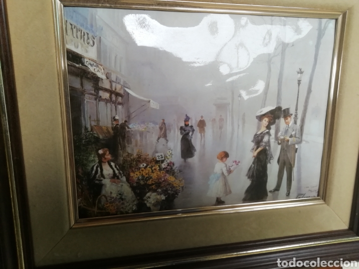 Arte: Pintura modernista y descriptiva. Escena cotidiana. Enmarcada. - Foto 6 - 162654508