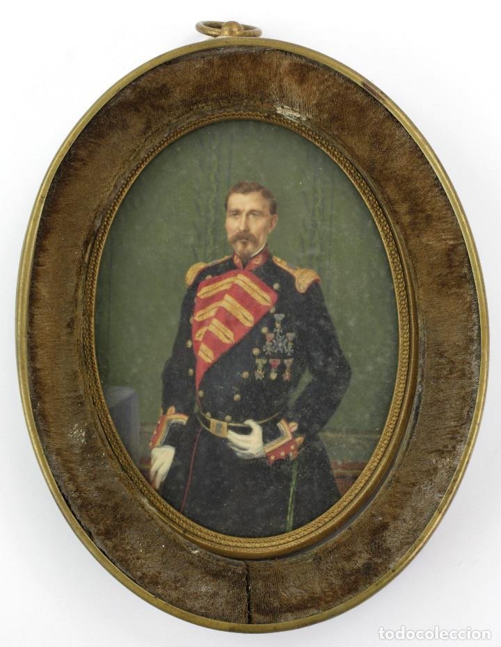 EXTRAORDINARIO RETRATO DE MILITAR, MANRESA AÑO 1856. FIRMADO POR LUÍS VERMELL (1814-1868) (Arte - Pintura - Pintura al Óleo Moderna sin fecha definida)