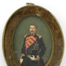 Arte: EXTRAORDINARIO RETRATO DE MILITAR, MANRESA AÑO 1856. FIRMADO POR LUÍS VERMELL (1814-1868). Lote 162693690