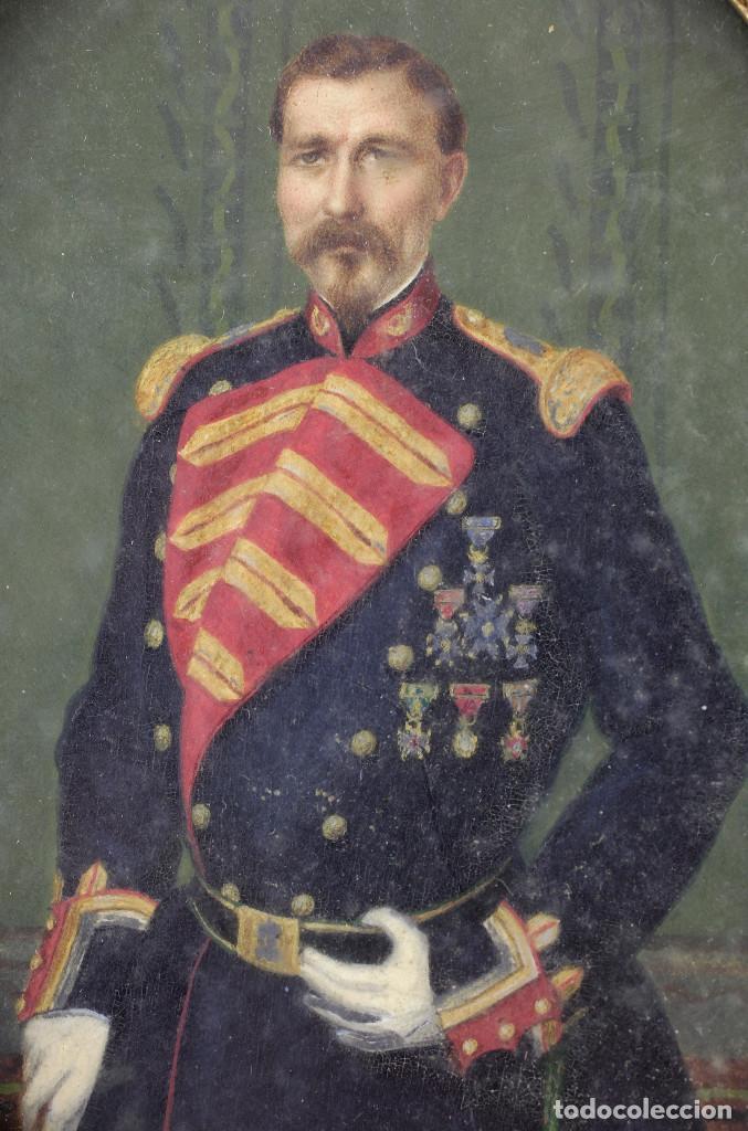 Arte: EXTRAORDINARIO RETRATO DE MILITAR, MANRESA AÑO 1856. FIRMADO POR LUÍS VERMELL (1814-1868) - Foto 3 - 162693690