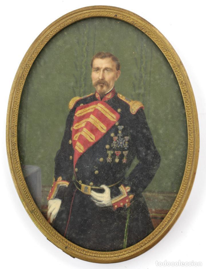 Arte: EXTRAORDINARIO RETRATO DE MILITAR, MANRESA AÑO 1856. FIRMADO POR LUÍS VERMELL (1814-1868) - Foto 4 - 162693690