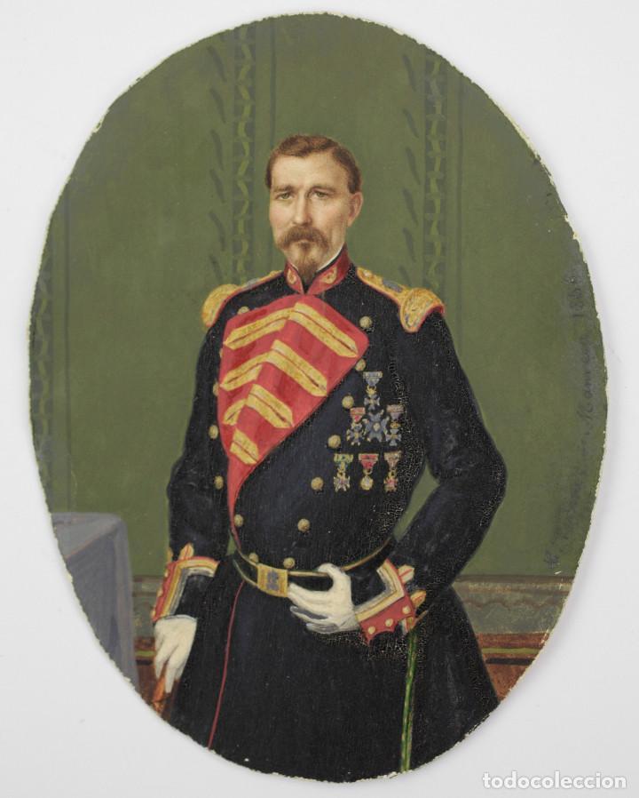 Arte: EXTRAORDINARIO RETRATO DE MILITAR, MANRESA AÑO 1856. FIRMADO POR LUÍS VERMELL (1814-1868) - Foto 6 - 162693690
